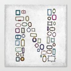 letter N - nailed frames Canvas Print