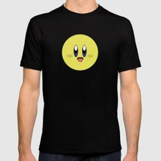 Yellow Smile MEDIUM Mens Fitted Tee Black