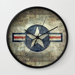 Stylized US Air force Roundel Wall Clock