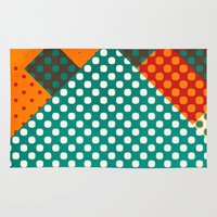 dots Area & Throw Rugs featuring Dots by SensualPatterns