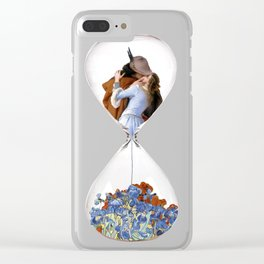 Hourglass of Love (Hayez) Clear iPhone Case