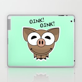 Pig Oink Piggy Pink animal framed poster art mug Laptop & iPad Skin