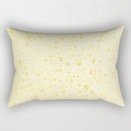 Soft Golden Yellow Champagne Wedding Fizzy Bubbles Rectangular Pillow