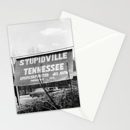 Stupidville Tennessee, Unincorporated for now humorous black and white photography - photographs Stationery Cards