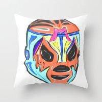 mexico Throw Pillows featuring MEXICO by MANDIATO ART & T-SHIRTS