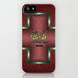 """""""Chaos"""" Chinese Calligraphy on Celtic Cross iPhone Case"""
