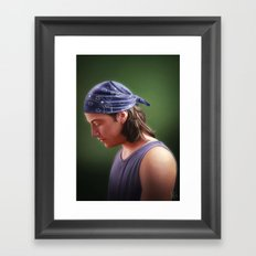 Wishing on another lucky star Framed Art Print