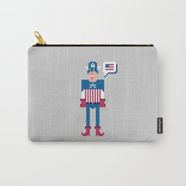 Pixel Captain Am Erica Carry-All Pouch