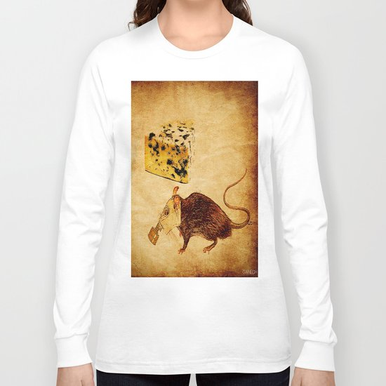 The rat which did not like the cheese Long Sleeve T-shirt