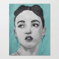 fka twigs Canvas Prints featuring FKA Twigs by Char Stefanski