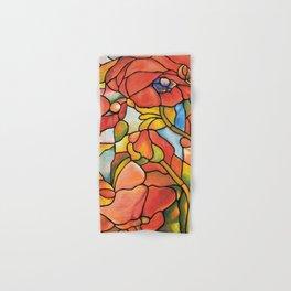 Red Poppy Lamp Hand & Bath Towel