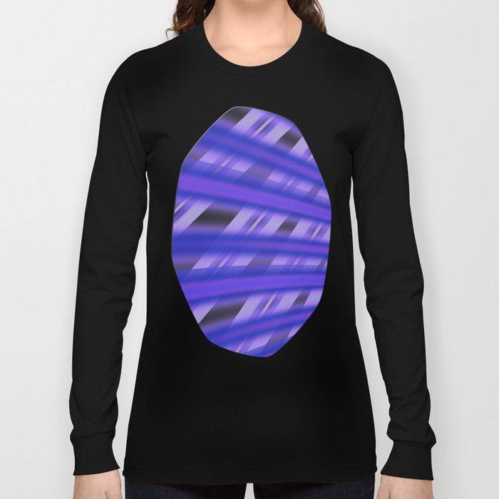 Fractal Play in Purplicious Long Sleeve T-shirt