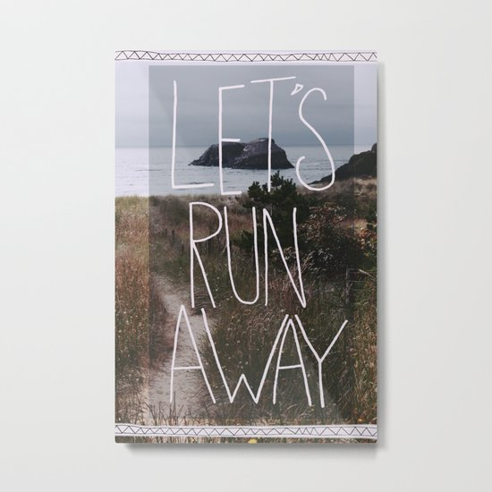 Let's Run Away: Cannon Beach, Oregon Metal Print