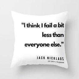 43  | Golf Quotes | 190606 Throw Pillow