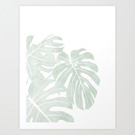 minimalist tropical plant Art Print