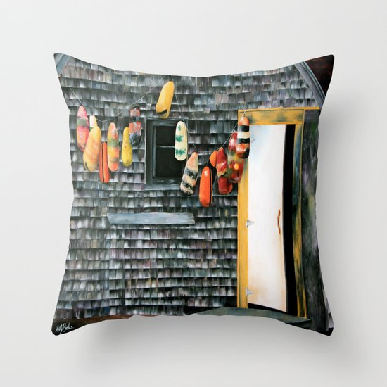 Buoy Oh Buoy Throw Pillow