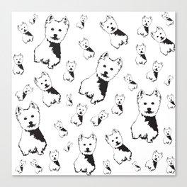 West Highland Terrier, Westie, Canvas Print