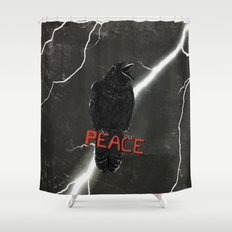 Crow For Peace Shower Curtain