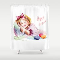 easter Shower Curtains featuring Easter by tatiana-teni