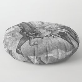 Colonel Theodore Roosevelt On Horseback Floor Pillow