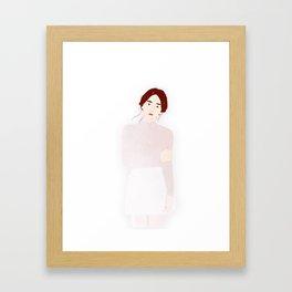 Winter Girl Framed Art Print