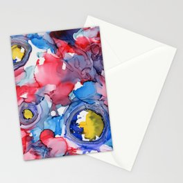 3D Circles Stationery Cards