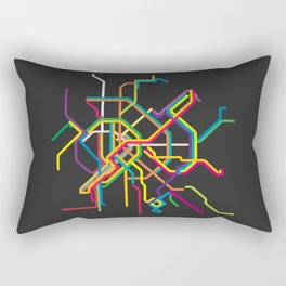 budapest metro map Rectangular Pillow