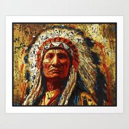 weathered chief Art Print