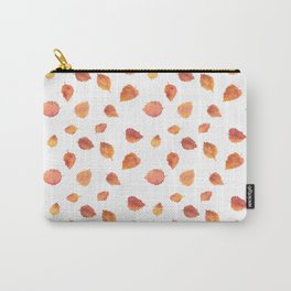 Autumn birch tree leaves Carry-All Pouch