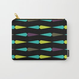 Geometric Pattern 84 (droplet purple, teal, lime) Carry-All Pouch