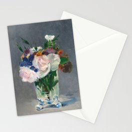 Édouard Manet - Flowers in a Crystal Vase Stationery Cards
