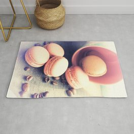 Sweet Cake with coffee beans Rug
