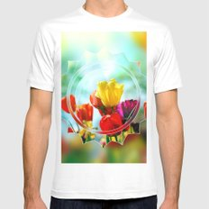 Tulips in the sunshine Mens Fitted Tee MEDIUM White