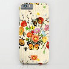 Butterfly Bouquet on Raw Silk Slim Case iPhone 6s