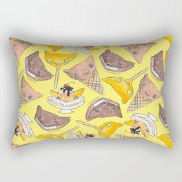 """Oro?"" Ice Creams Yellow Rectangular Pillow"