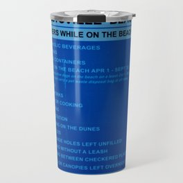 Beach Rules Travel Mug