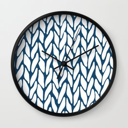 Hand Knitted Navy Wall Clock