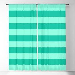 Teal and Aqua Mint Stripes Blackout Curtain