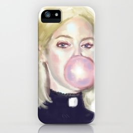 Girl In A Bubble iPhone Case