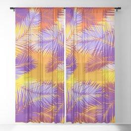 Tropical Sunset Sheer Curtain