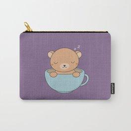 Kawaii Cute Coffee Brown Bear Carry-All Pouch