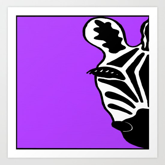 Zebra Purple Art Print