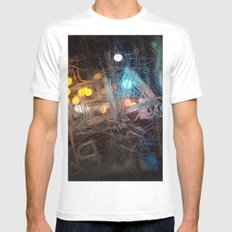 Scraped MEDIUM White Mens Fitted Tee