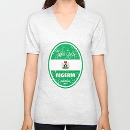 World Cup Football - Nigeria (Distressed) Unisex V-Neck