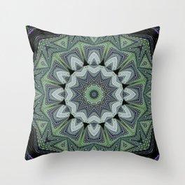 Reflecting Pattern Mandala 2 Throw Pillow
