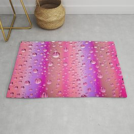 Colorful abstract wallpaper, waterdrops over multicolor background Rug