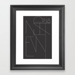 New Year Typo Black #society6 #decor #buyart Framed Art Print