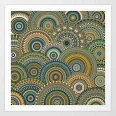 Mandala Mania-Mineral colors Art Print