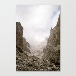 Mountain in clouds | Dolomites Italy | South Tirol | Photography print art Canvas Print