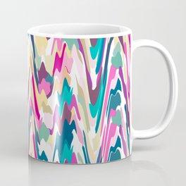 Colorful Wavy Painterly Abstract Design Coffee Mug